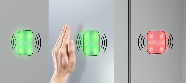 Berührungslose WC-Türen Look&Wave von schäfer